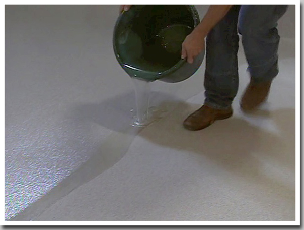 garage floor process top pour