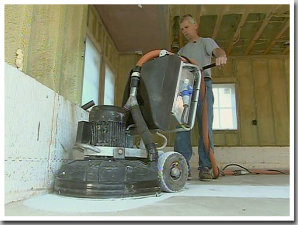 garage floor process grinding